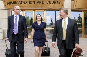 Peak Legal attorneys in front of courthouse